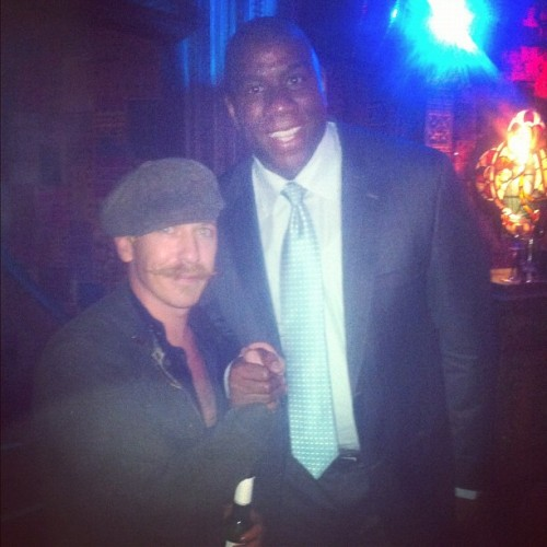 It's only Magic Johnson…what!? WHAT!? MA-F**KING-GIC JOHNSON