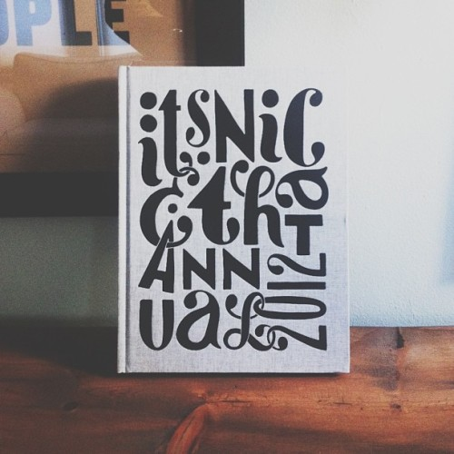 willbryantplz:  Well done @itsnicethat! This book is a beauty. Smells good too. Amazing lettering by @pietparra