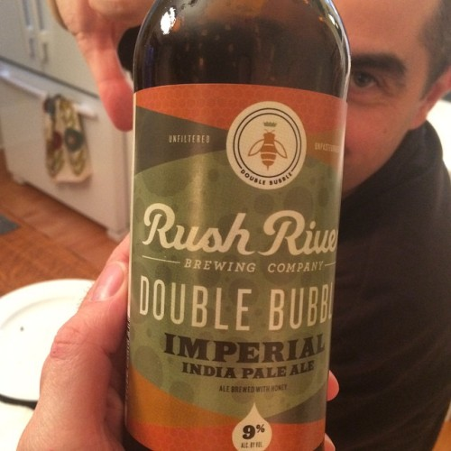 Currently drinking: #Beer (My friend was not impressed. Me? I should have bought 2! So good.)