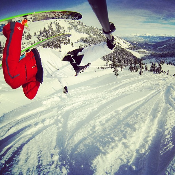 Chris Farro is clear for landing at Powder Mountain, BC