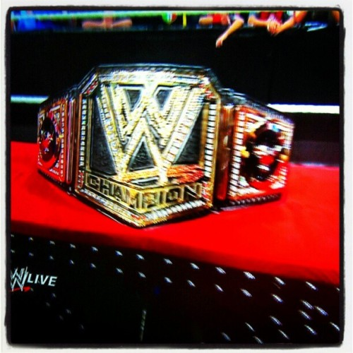 #TheRock @therock revealed the new #WWE #ChampionshipBelt the coolest thing is the logo/emblem for the individual Superstar at the sides since The Rock has it now it has Bulls on the side. I can't wait to see what's #JohnCena will have once he gets it at #wrestlemania #RAW