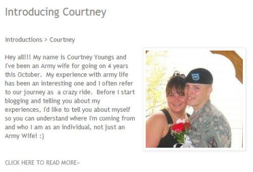Introducing Courtney. She will be bloggin' with us. You may catch her bloggin about TTC, Hardship Tours, Children, and of course SOFTBALL! ;) Read More about her —-> http://bit.ly/YVej6a