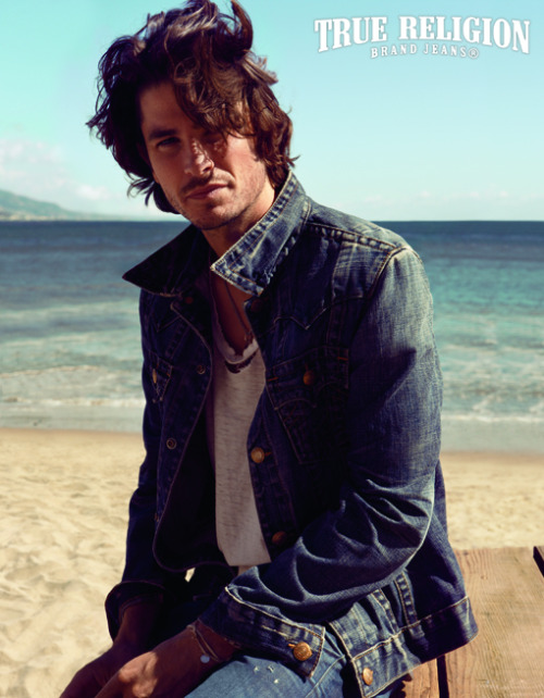 fordmodels:  Tom James for True Religion  Dang…..