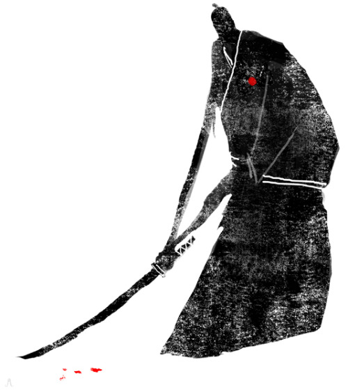 "jeffreyalanlove:  ""Miyamoto Musashi"" Today's piece for the Month of Love challenge."