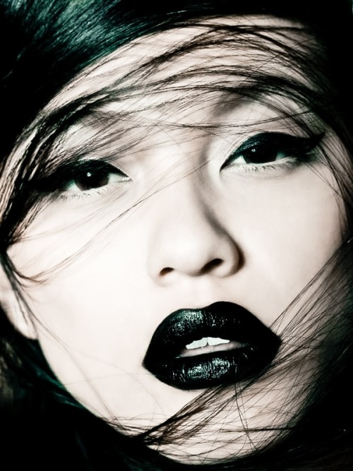 Black on Black on Black  make-up-is-an-art:  by Marian Woo