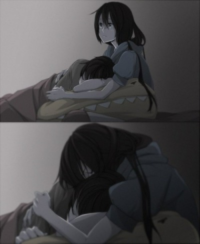 darkakito:  I hope someone will embrace me in her arms someday…