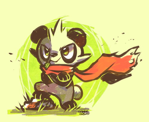 soulsilverspirit:  Little Panda Fighter! by *crayon-chewer