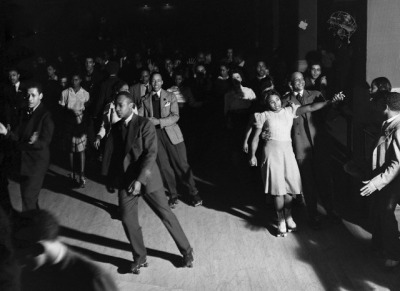 calumet412:  Roller skating at the Savoy Ballroom, 1941, Chicago. Russell Lee