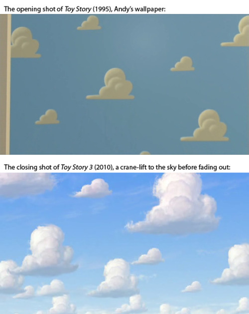 I'd never noticed how Pixar tied the Toy Story Trilogy together.