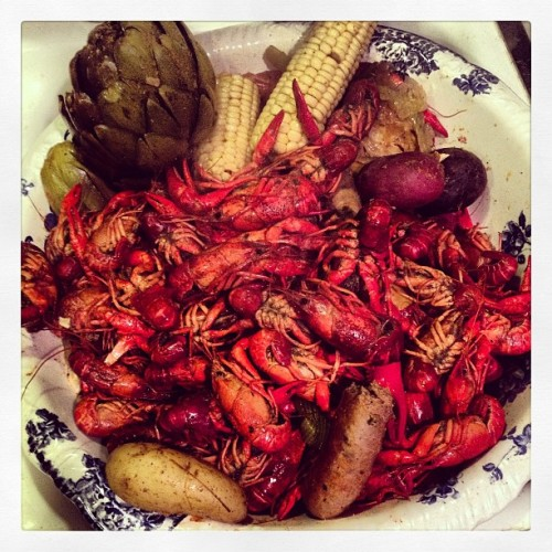 1st annual crawfish boil #louisiana'sfinest  #foodporndaily