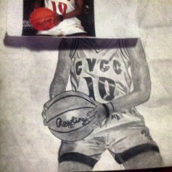 Still at it lol working on my pic of @_iheartbball :) love her