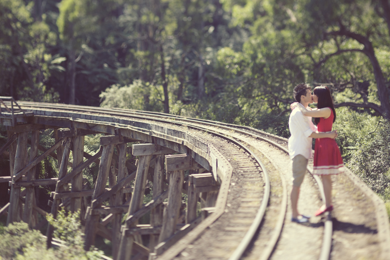 How romantic is it kissing on a rail way track?