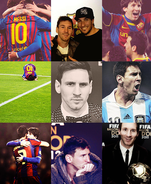 "Favourite People → Lionel Messi ""I made a lot of sacrifices by leaving Argentina, leaving my family to start a new life. But everything I did, I did for football, to achieve my dream. That's why I didn't go out partying, or do a lot of other things."""