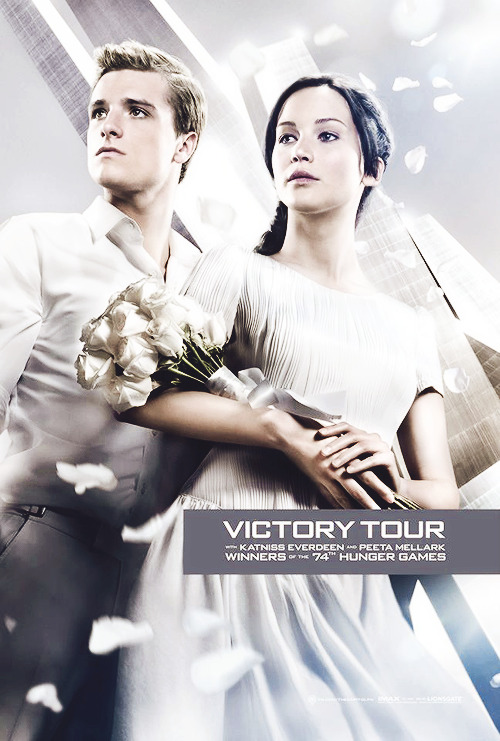 The Capitol proudly announces the victors of the 74th annual Hunger Games, Katniss Everdeen & Peeta Mellark, as they embark on this year's Victory Tour!