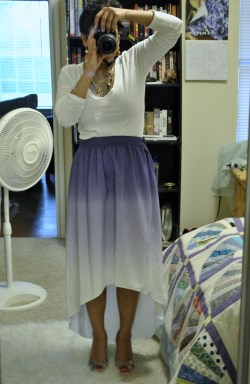 It's usually really hard for me to find a maxi skirt or dress that fits me well, but this one is perfect! I'm wearing little wedges, but I could even wear it barefoot and it doesn't touch the ground.  Yay Target!