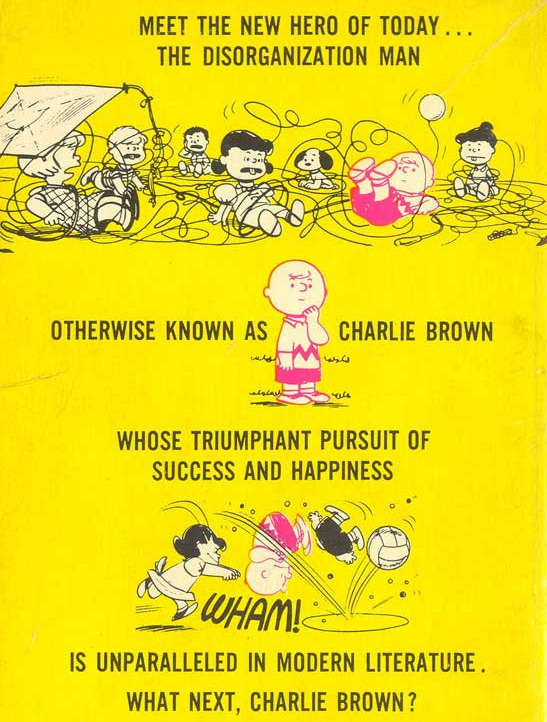 Taken from the back cover of What Next, Charlie Brown?, 1964 via Vieille Marde