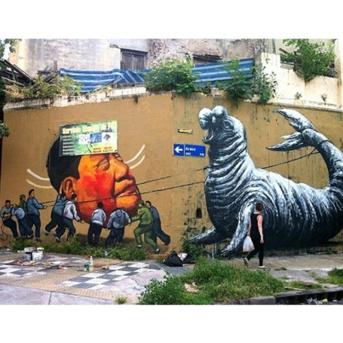 upperplayground:  #ROA x #EVER #buenosaires  good stuff.