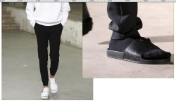 fashion paris closeup runway socks detail Raf Simons slippers carven ss15 ss 2015 Spring/Summer 2015 mfw ss15 S/S 2015