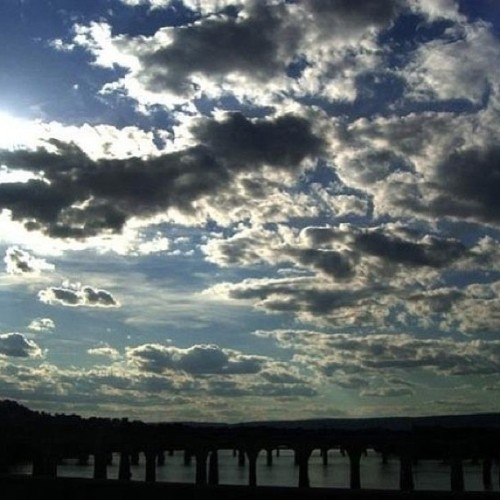 #photography #beautiful #clouds #sky #bridges #pennsylvania #harrisburg #memories #art
