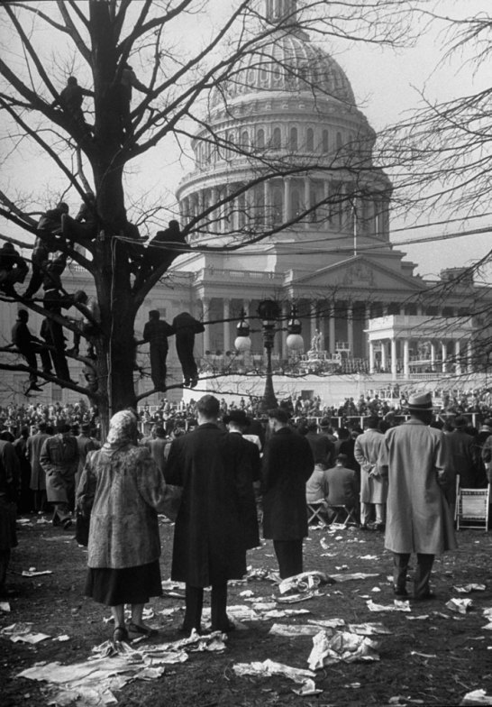 Dwight Eisenhower's inauguration, 1953. By Alfred Eisenstaedt