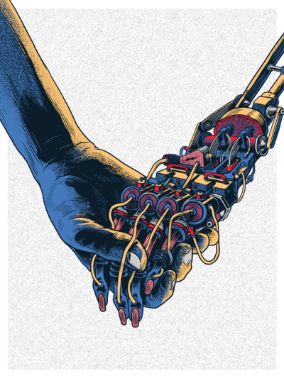 Even if it's man and machine, we're still holding hands via visualgraphic:  Lead Us