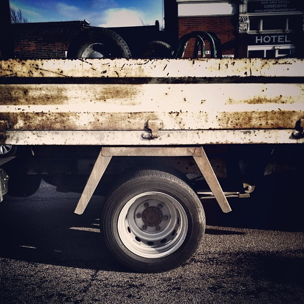 #instagram #london #road #van #wheel #rubber #tyre #metal #street #pub #sky #clouds