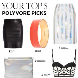Your Top 5 Polyvore Picks por polyvore-editorial con j crew ❤ liked on PolyvoreSass & Bide bustier top / Jonathan Saunders pencil skirt / The Row pencil skirt / Maison Martin Margiela  / J.Crew j crew