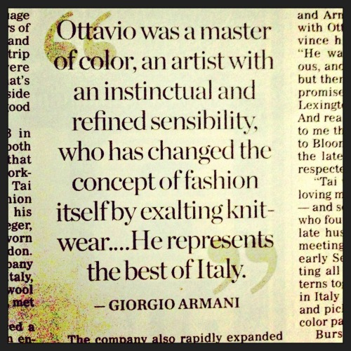 RIP Ottavio Missoni - Fashion Icon