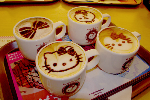 itsmaxinemae:  Hello Kitty Coffee Art