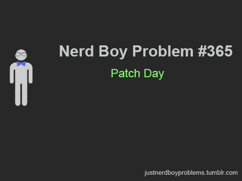"Submitted by anonymous ""Patch Day"" ADMIN NOTE: Ohh look, a years worth of problems."