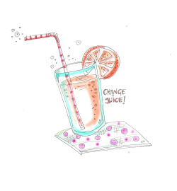 Orange Juice…illustration by Ilaria Vallone