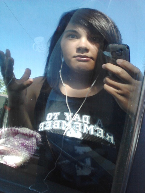 Apparently my reflection on a car window is better looking than me haha
