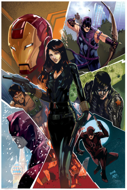 comicsforever:  Black Widow: Past, Present and Future // artwork by Peter Nguyen (2013)