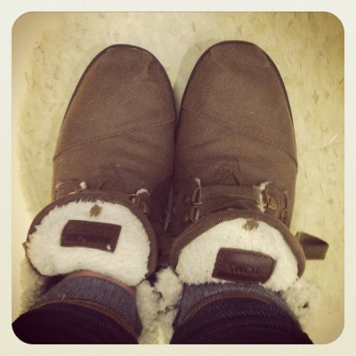 jessikuhalice:  it's the fuzzy toms time of year(: #toms #bestshoesever