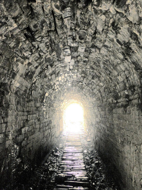 Gray and Abandoned Tramway Tunnel (by Dafydd Em)