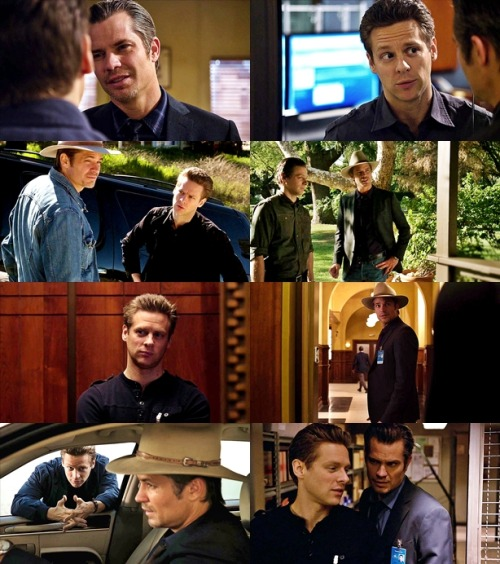 """The Raylan-Tim dynamic is one of the most underrated relationships on the show, Timothy Olyphant and Jacob Pitts work spectacularly together."""