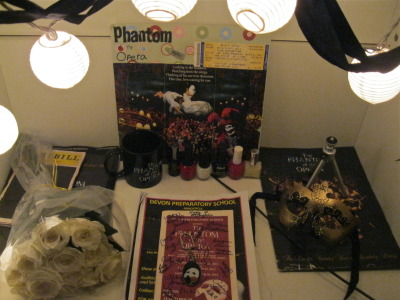 myheart-mybody-mymind:  I've never told you guys about my Phantom of the Opera shrine have I..  I love this