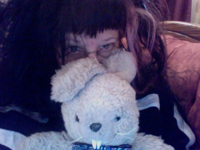 Sickly goth with Devilbunny.