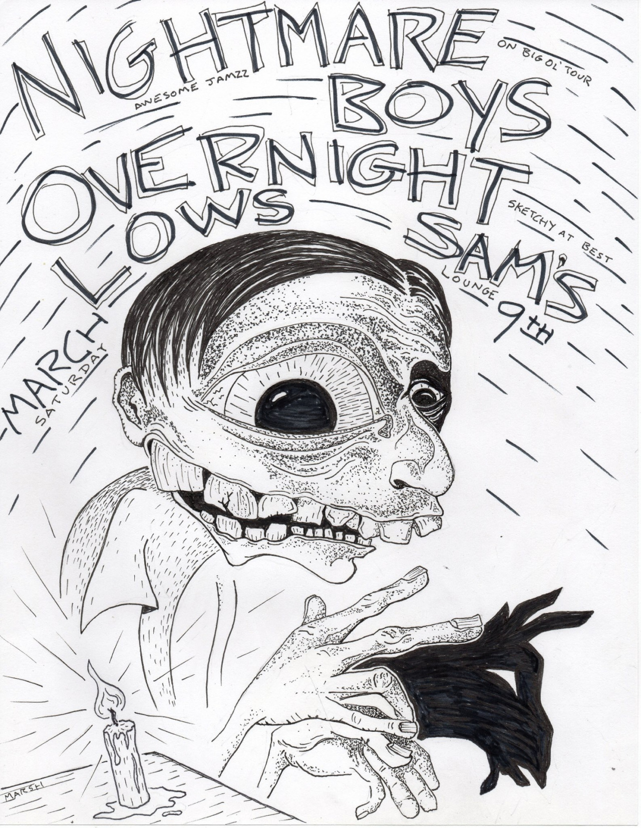 OVERNIGHT LOWS // NIGHTMARE BOYS // by MARSH NABORS