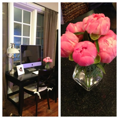 Peonies straight from my garden! Weeeeee! #flowers #interiors