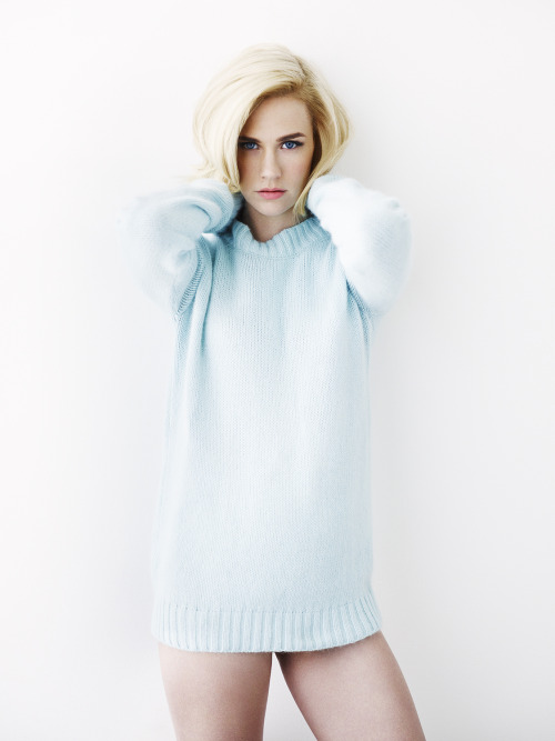 January Jones, photographed by Simon Emmett for Glamour UK, April 2013.