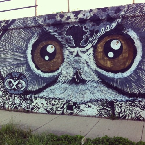 #GoodMorning, #Pilsen. Good morning, #owl.  (at 16th Street)