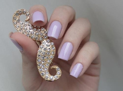 Mustachey Nail on We Heart It. http://m.weheartit.com/entry/47102970/via/a_dash_of_everything__