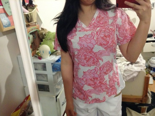 "May 14,2013  Hehe I love the print of this top! Anyways… Lol had a patient pour out her heart to me while she sat on the toilet doing her number 2 and while I stood there because she kept on talking and wouldn't let me leave because ""she was almost done"" for 5 minutes. kinda awkward but kinda cute and funny LOL"