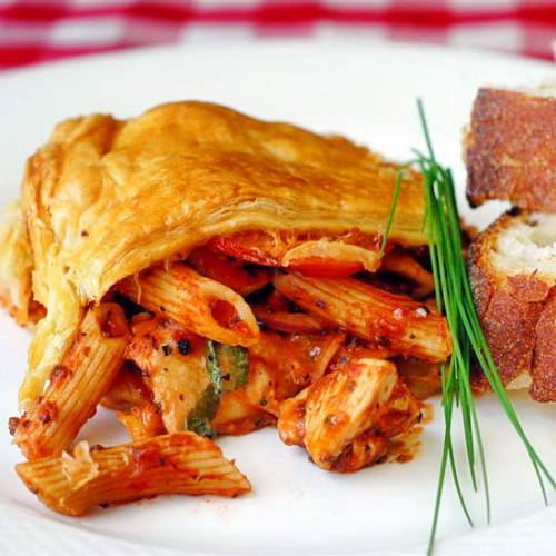 in-my-mouth:  Chicken Penne Timpano