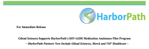 Gilead Joins Merck, ViiV in Support of HarborPath The service provides a single point of access to HIV/AIDS medications through patient assistance programs via an online portal.