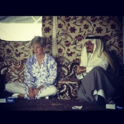 zamaaanawal:  Princess Diana in Saudi Arabia, 1986