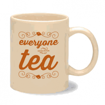(via DFTBA Records :: Everyone Deserves Tea Mug)