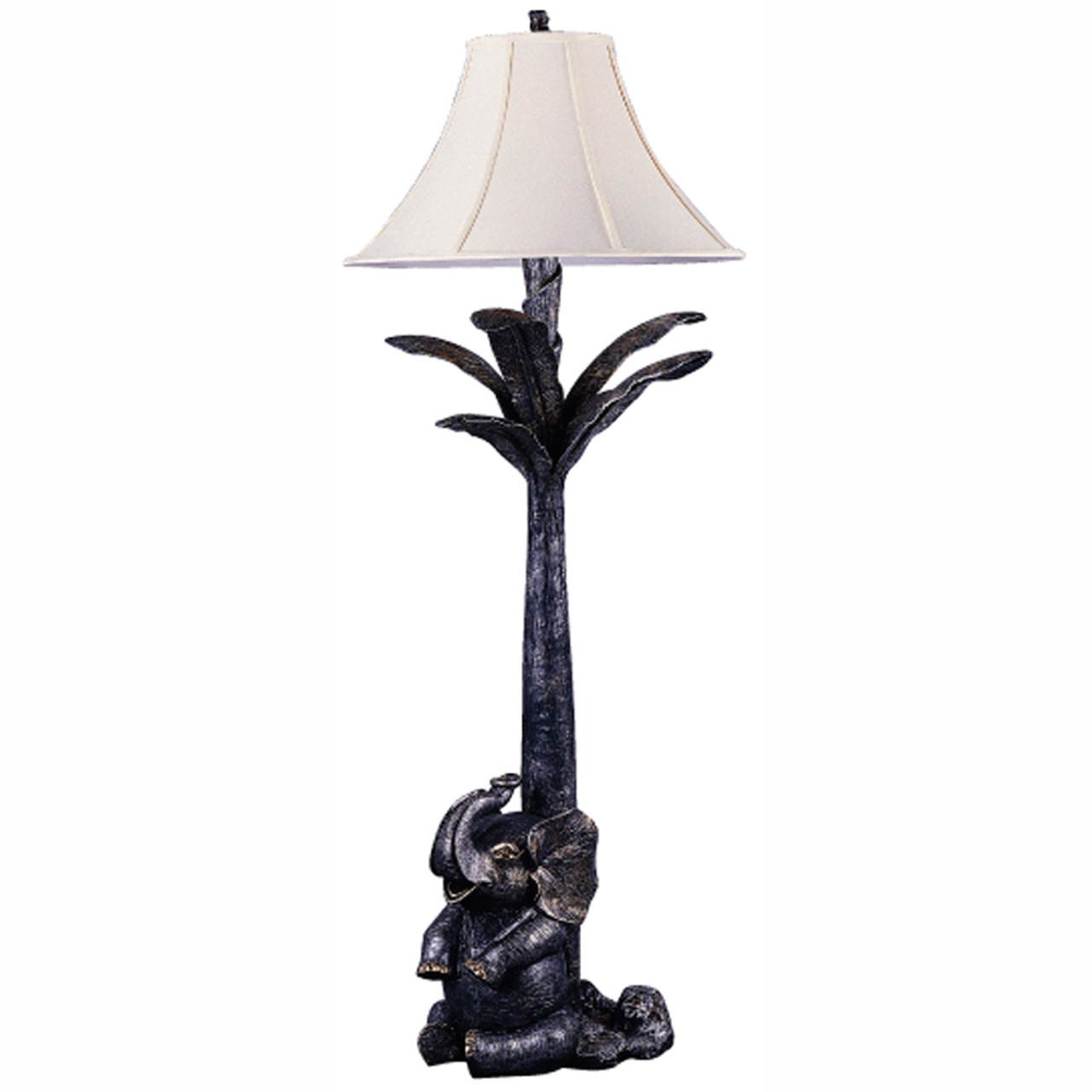 Product of the Week - Triarch Lighting 31338 Elephant Floor Lamp This 1 Light Floor Lamp from the Elephant collection by Triarch will enhance your home with a perfect mix of form and function. The features include a Bronze Silver Patina With Antique Gold Highlights finish applied by experts.