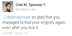 twitter tweet dylan sprouse cole sprouse sprouse twins virginity